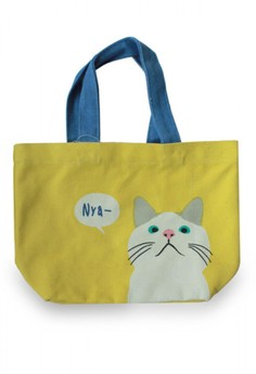 Japanese Style Color Combo Cat Lunch Tote Bag