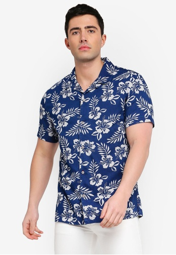 815285c05170 Buy MANGO Man Regular-Fit Tropical Print Shirt Online on ZALORA Singapore