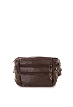 Brown Genuine Leather Belt Bag