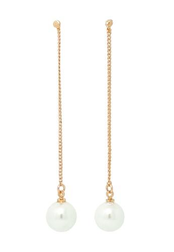 Jaysa Collection gold Rose Gold Thread Pearl Earrings JA875AC0F9MJSG_1
