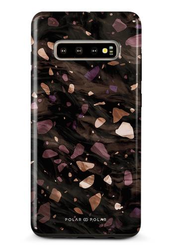 Polar Polar brown Eminence Terrazzo Gem Dual-Layer Tough Case Glossy For Samsung Galaxy S10 Plus 995F6AC616BCA8GS_1