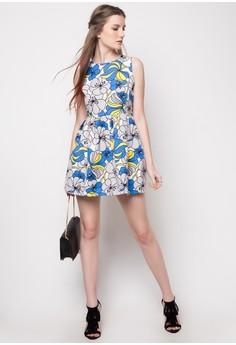 Allyza Printed Sleeveless Dress