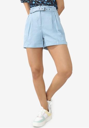 PIMKIE blue Belted Shorts 5EBCDAAFD5FCA2GS_1