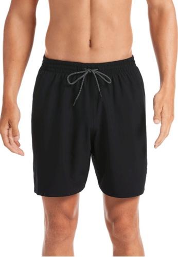 "Nike black Nike Swim Men's Essential Vital 7"" Volley Short 46F8DUS90625CDGS_1"