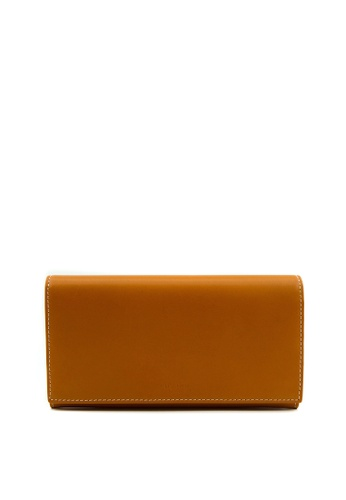 Enjoybag brown Kobe Cow Leather Long Wallet BFE01AC588E051GS_1
