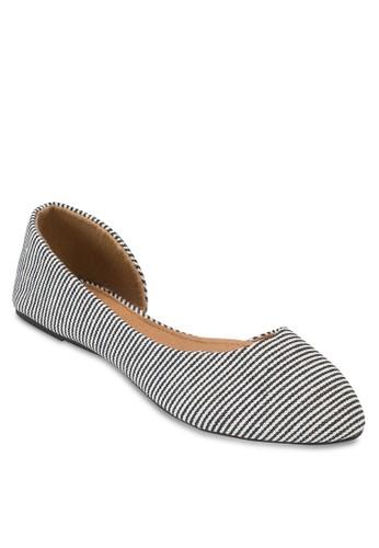 Pippa 側空尖頭平底鞋, 女esprit官網鞋, 鞋