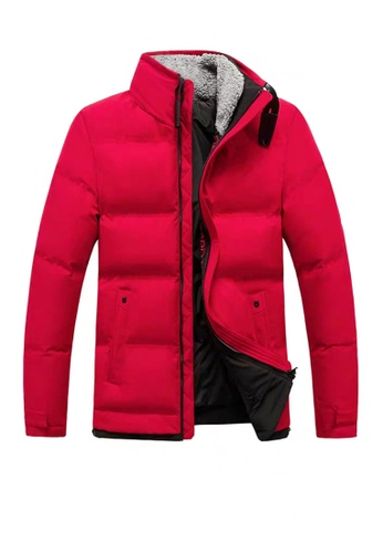 Twenty Eight Shoes red VANSA  Fashion Plush Collar Cotton Coat VCM-C011 1141BAA8BDB4FDGS_1