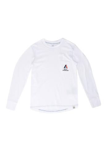 Jack & Jones white Boys Jersey Long Sleeve T-Shirt 66123KA9048D53GS_1