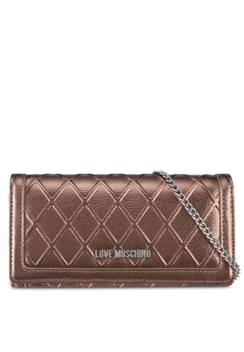Love Moschino brown LOVE MOSCHINO Portafogli Embossed Wallet LO478AC0SXZ9MY_1