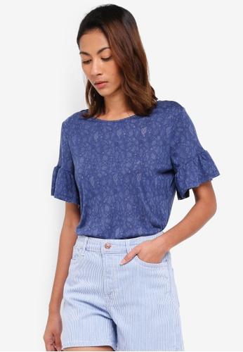 ESPRIT blue Short Sleeve T-Shirt 3C950AA1D21619GS_1