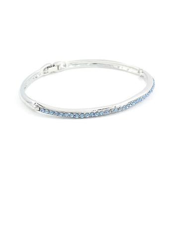 Glamorousky blue Elegant Bangle with Blue Austrian Element Crystals C06CCACCA00DD1GS_1