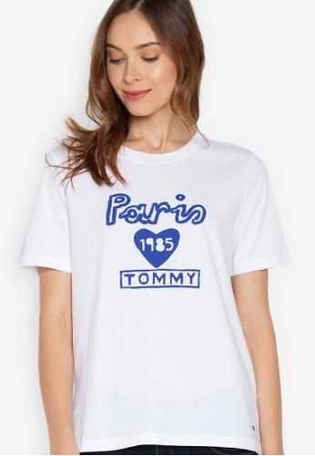 122c65e4 Shop Tommy Hilfiger Paris Graphic T-Shirt Online on ZALORA Philippines
