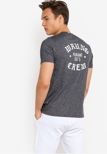 Wrung black Real OG T-Shirt WR395AA86MPPMY_1