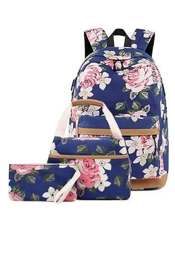 Twenty Eight Shoes navy VANSA Floral Printed Canvas Backpacks VBW-Bp10031 BD5E0AC3BCD97CGS_1
