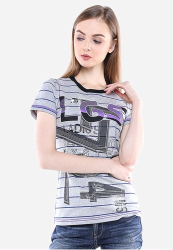 LGS grey LGS - Slim Fit - Kaos Wanita - Abu - LGS Ladies. LG695AA31MWAID_1