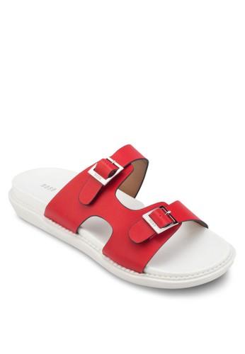 雙扣環鏤空esprit服飾舒適拖鞋, 女鞋, 懶人鞋