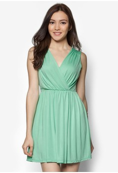 Sleeveless Cross Front Dress