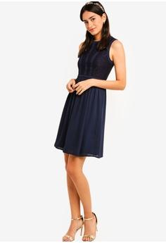 ZALORA Bridesmaid Lace Panel Fit   Flare Dress S  39.90. Sizes XS S M L XL 3bad5201c