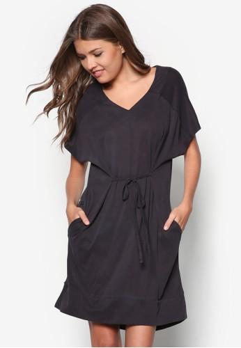 Premium 繫帶寬版連身裙, 服飾, zalora 衣服評價短洋裝