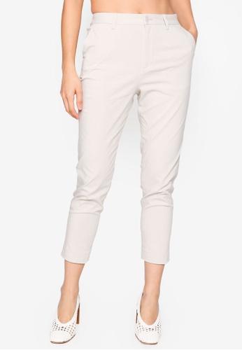 GLOBAL WORK white Crop Pants 5018EAAD289366GS_1