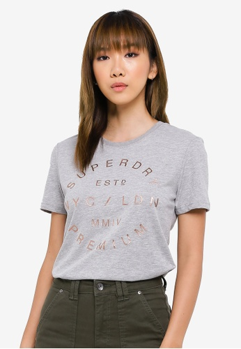 SUPERDRY grey NYC Studio Foil Entry Tee 6B152AAF8B2A3AGS_1