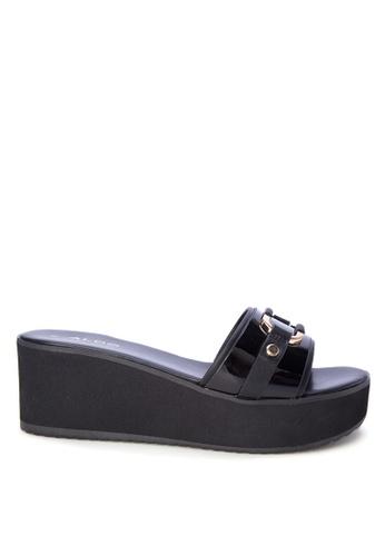 ALDO black Daquin Wedge Sandals AL087SH0K5Z8PH_1
