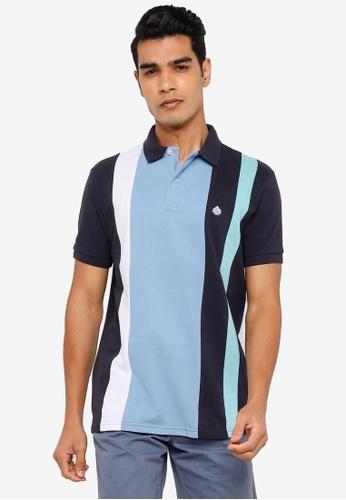 Springfield navy Horizontal Striped Pique Polo Shirt 59563AA6A6951BGS_1