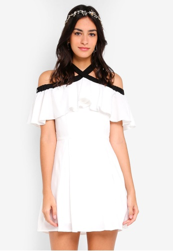 5796ac241fba Shop ZALORA Bridesmaid Off Shoulder Ruffles Dress Online on ZALORA  Philippines