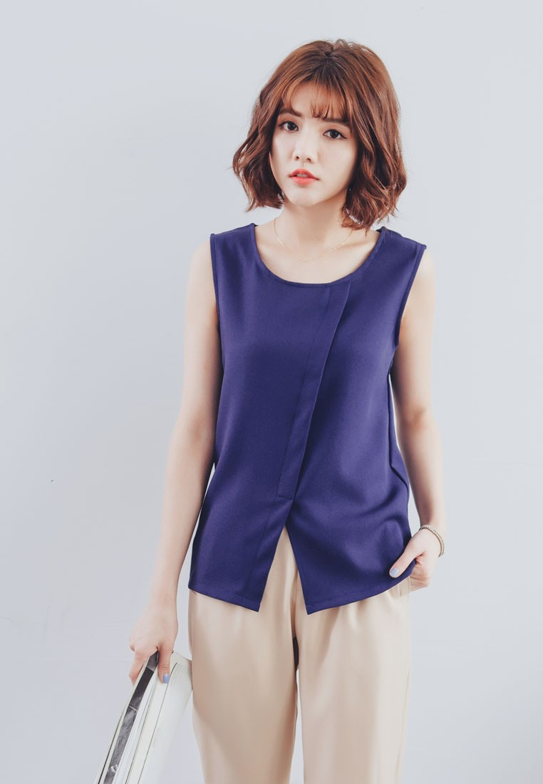 Assymetrical Sleeveless Top