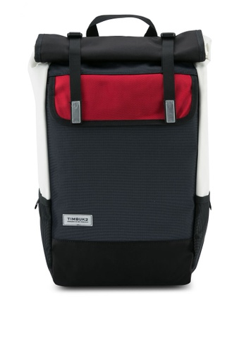 Timbuk2 black and red Prospect Pack Backpack TI112AC0T085MY_1