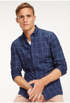634aab8d 20% OFF Tommy Hilfiger Slim Printed Windowpane Shirt RM 589.00 NOW RM  471.20 Sizes S M L XL XXL