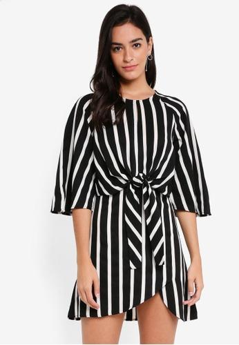 ZALORA black Tied Waist Dress 5B06BAA7A987D2GS_1