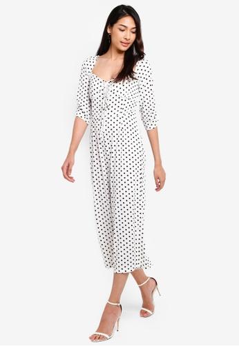 Glamorous 白色 方領連身褲 1687DAA7232E5EGS_1