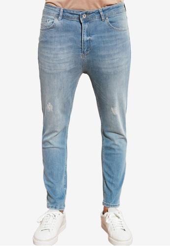 Trendyol blue Distressed Skinny Cropped Jeans 82B6EAAA298003GS_1