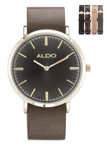 Uesprit 眼鏡leawen 簡約圓框手錶, 錶類, 飾品配件