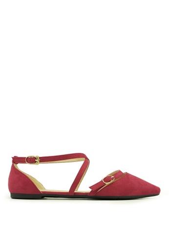 Carlo Rino red Carlo Rino 33320-A013-04 Pointed Toe Flats (Red) 3ADE6SH20CBE63GS_1