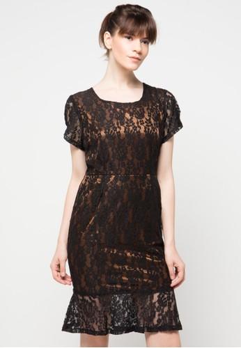 Raspberry black Veronika Mini Dress RA572AA69ICCID_1