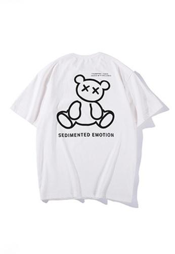 Twenty Eight Shoes white VANSA Unisex Reflective Short Sleeve T-Shirt VCU-T1001 54FCFAA0EA63C9GS_1