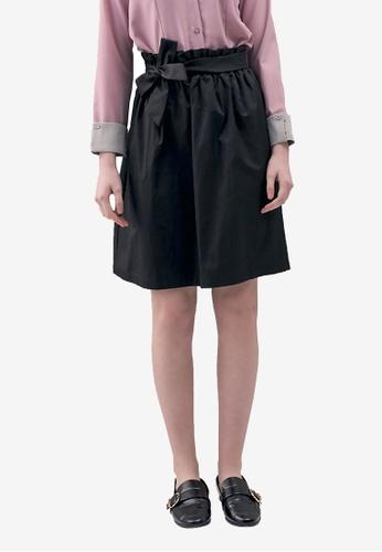 Kodz black Bow Detail Paperbag Skirt 462C9AA9A07357GS_1