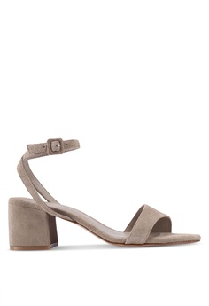 aa46d8f3c3f Violeta by MANGO brown Leather Straps Mono-tone Heels 313B9SH1503EAFGS 1