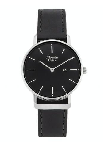 Alexandre Christie black Alexandre Christie Jam Tangan Wanita - Black Silver - Leather Strap - 8572 LDLSSBA FD87AAC969A882GS_1