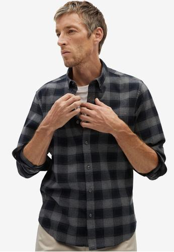 Mango Man grey Regular Fit Check Cotton Shirt A5C23AA72BC782GS_1
