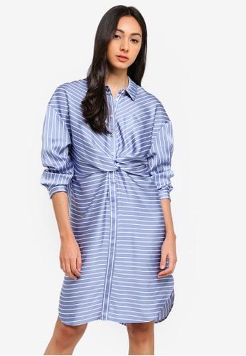 Sisley multi Striped Shirt Dress 872EEAA5768EB2GS_1