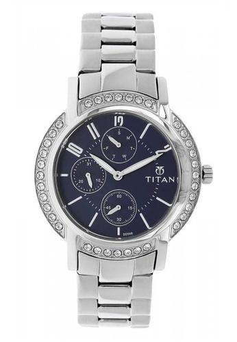 TITAN silver 9966SM01 Blue Dial Silver Stainless Steel Strap Watch EA90BACE3B42FFGS_1