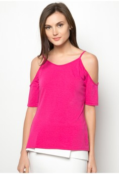 Kharzy Strappy Cold Shoulder Top