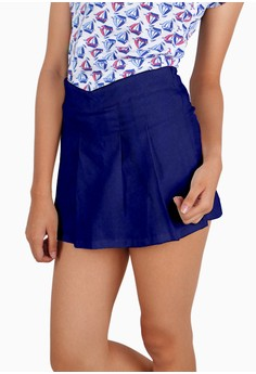 Textured Pleated Front Shorts