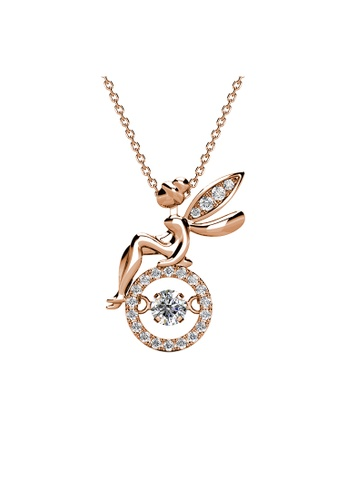 Her Jewellery Dancing Fairy Pendant (Rose Gold) - Embellished with Crystals from Swarovski® 1FBFCACB351E05GS_1