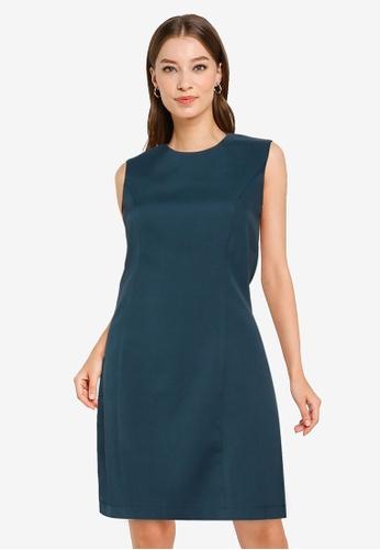 ZALORA WORK green Sleeveless A Line Dress 518BEAA6118661GS_1