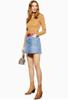 f2fc8876c030d TOPSHOP Denim Mini Skirt S  66.90. Sizes 6 14 · TOPSHOP green Satin Pleat Midi  Skirt 8D90CAA9274F70GS 1