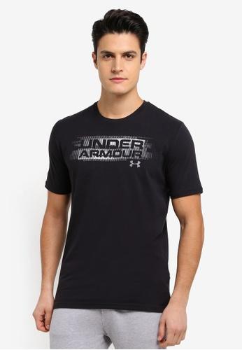 Under Armour black UA Phase Wordmark T-Shirt UN337AA0SU7CMY_1